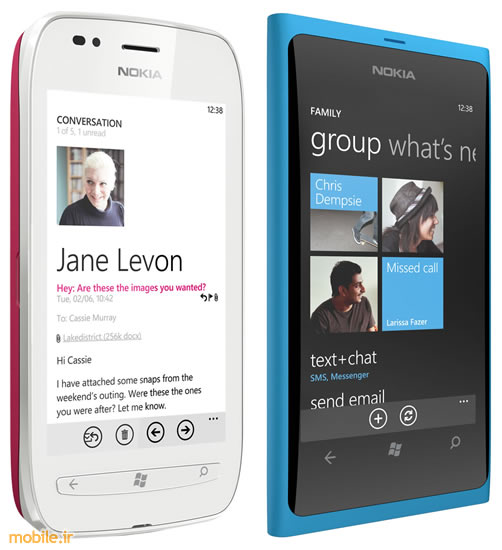 Nokia Lumia 800 and Nokia Lumia 710