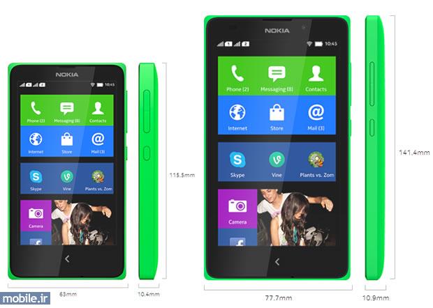 Nokia XL and Nokia X - نوکیا ایکس ال و نوکیا ایکس