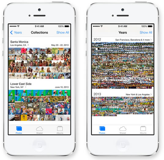 IOS 7 Photos App - برنامه تصاویر در آی او اس 7