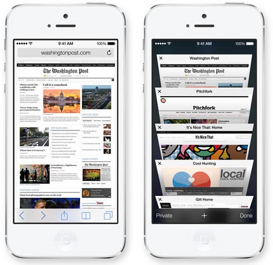 iOS 7 Safarii - سافاری در آی او اس 7