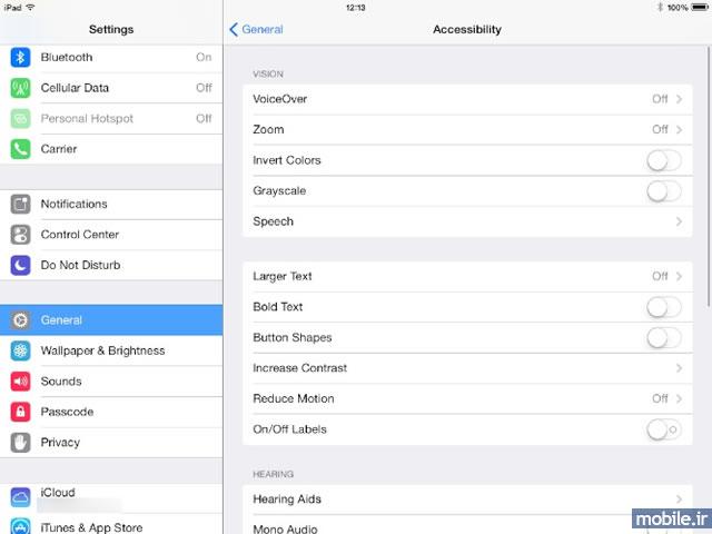 iOS 8 Accessibility