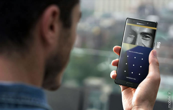 Samsung Note7 iris scanner and security options detail