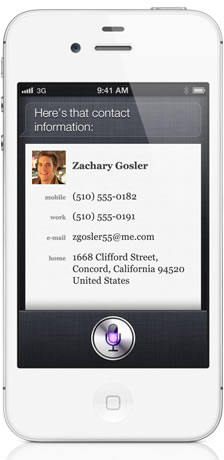 Apple Siri Contacts