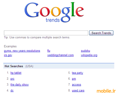 HP Tablet Google Trends