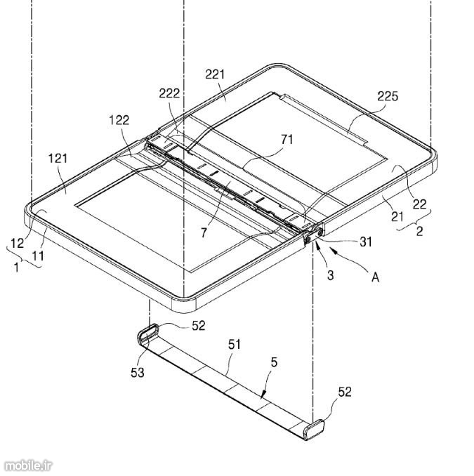 Samsung foldable smartphone patent application