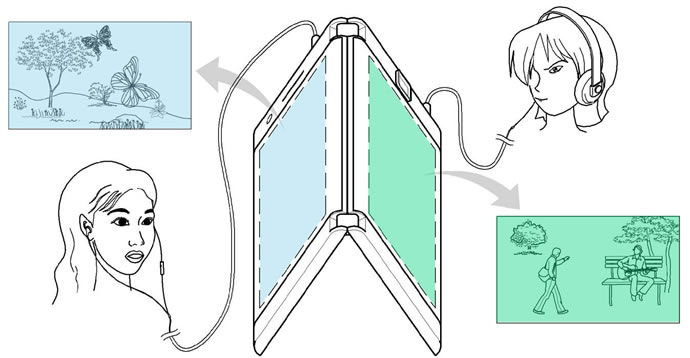 LG Foldable Smartphone with Two Screen and Two Battery Patent