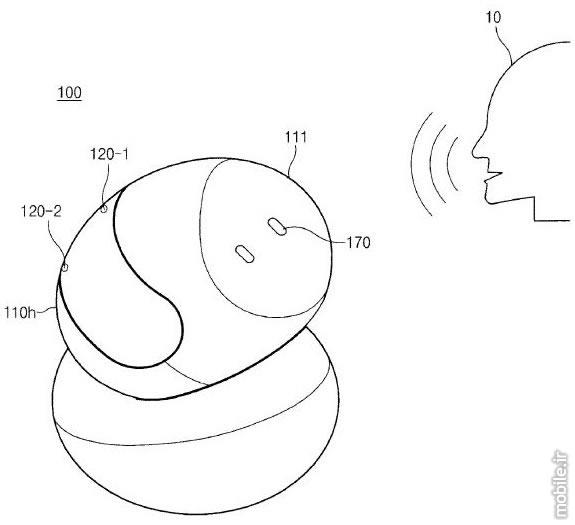 Samsung Smart Speaker Rotate Camera Patent Aapplication