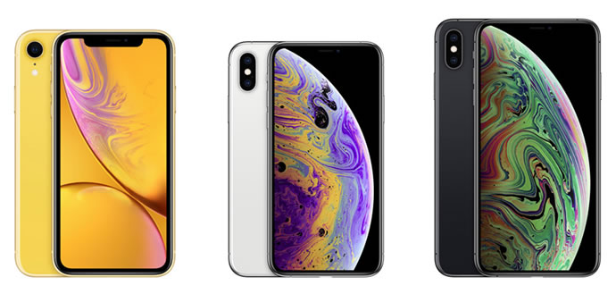 Apple iPhone XR and iPhone XS and iPhone XS Max