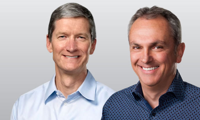 Tim Cook and Luca Maestri