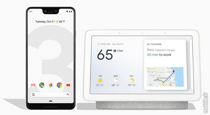 Google Pixel 3 XL and Google Home Hub