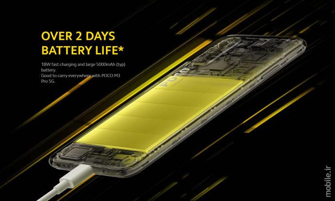 گوشی موبایل شیائومی مدل POCO M3 PRO 5G ظرفیت128 گیگابایت و 6 گیگابایت رم